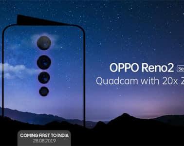 Oppo présentera le Reno 2 le 28 août prochain
