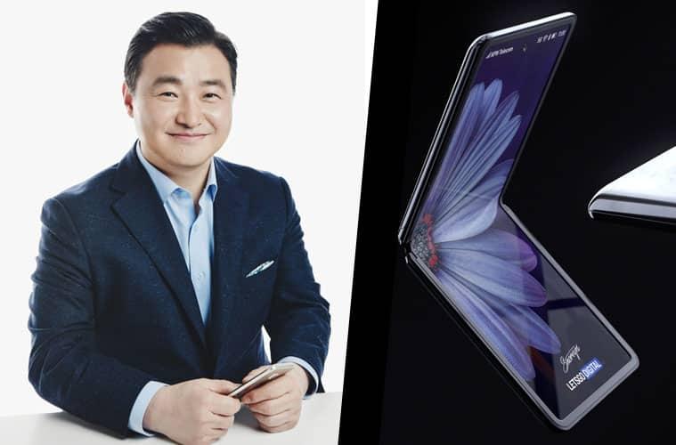 Nouveau directeur smartphone Samsung Tae-moon et le Galaxy Z Flip