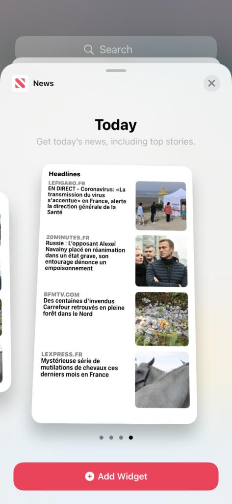 widget apple news