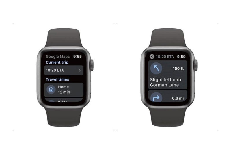 google maps sur l'apple watch