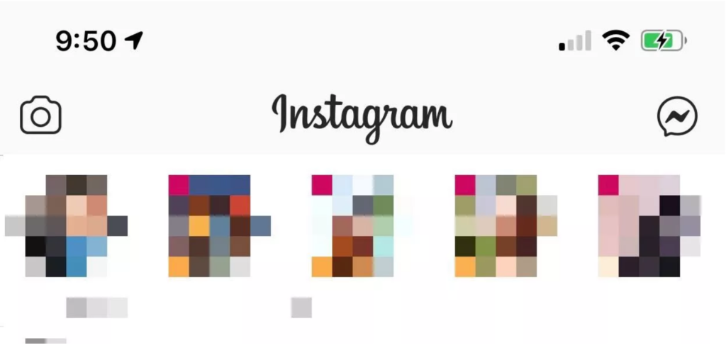 nouvel icône messages directs Instagram