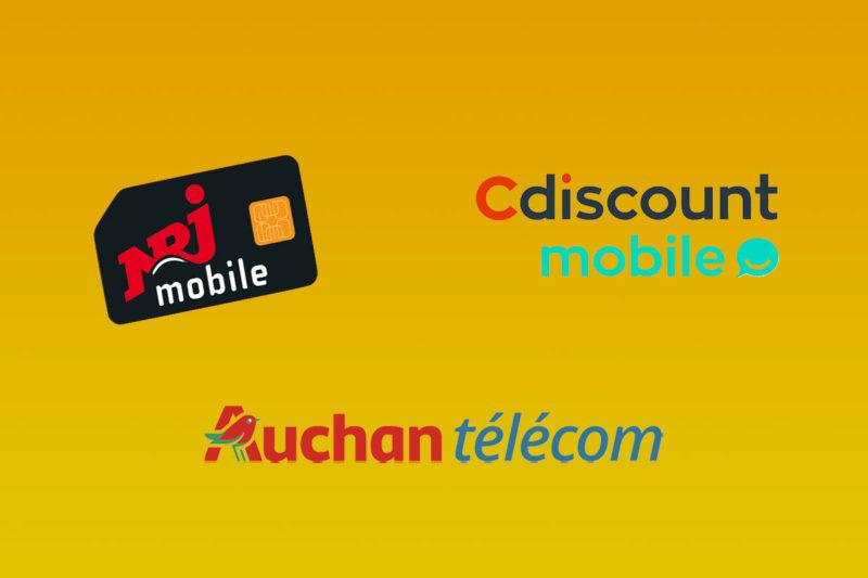 promo nrj mobile auchan telecom cdiscount mobile