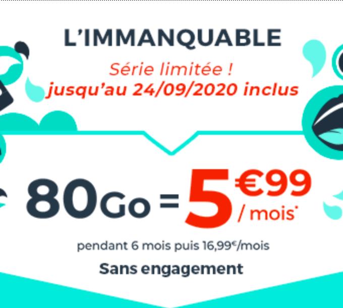 promo 80 Go cdiscount mobile