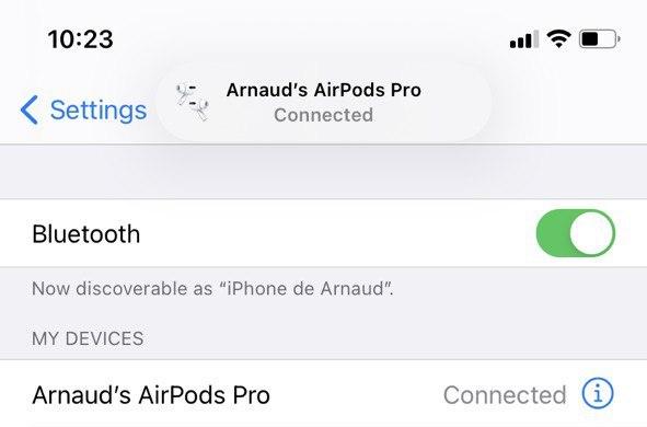 connexion airpods ios 14 bêta 7
