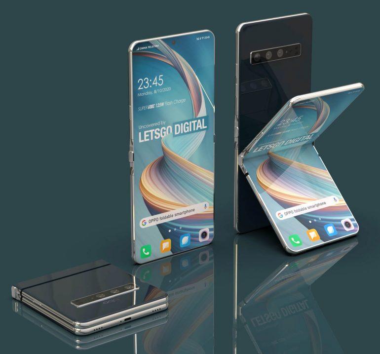 Rendu 3D smartphone clapet Oppo