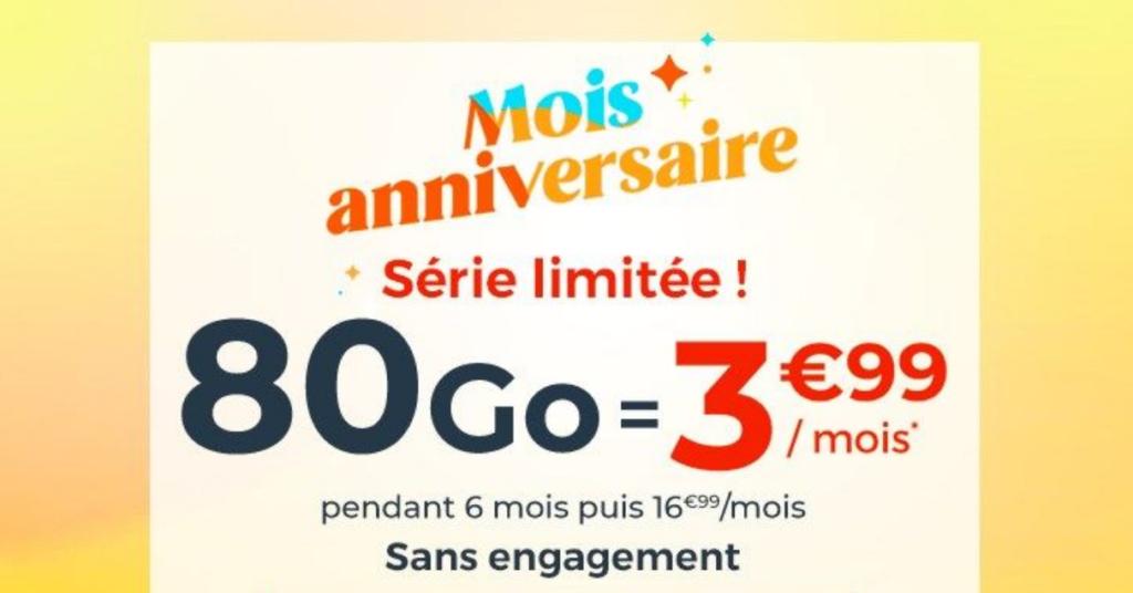 cdiscount mobile 80 go promo