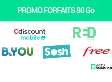 promo forfaits mobiles 80go