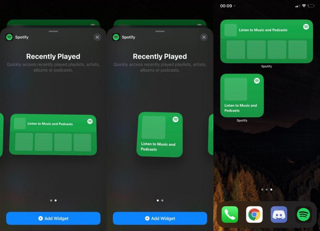 widget spotify