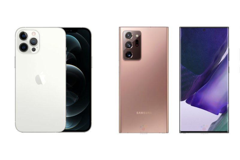 iphone 12 pro galaxy note 20 ultra