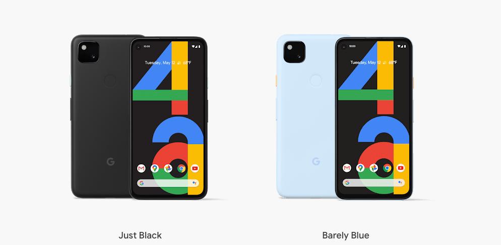 coloris google pixel 4a