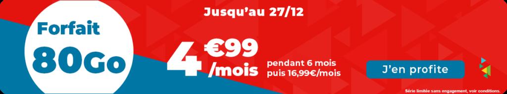 Forfait 80 Go Auchan Telecom