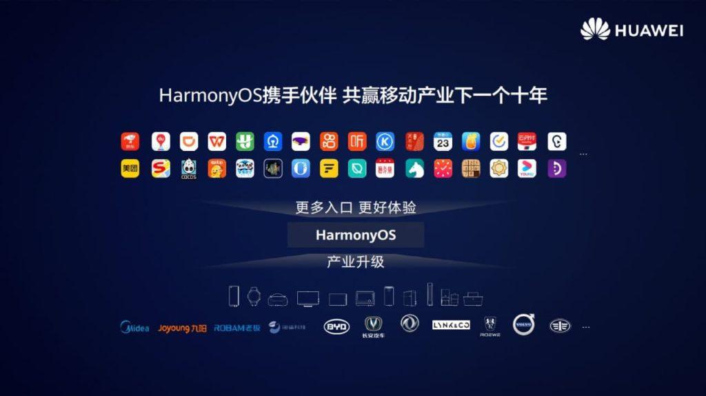 harmonyOS partenaires