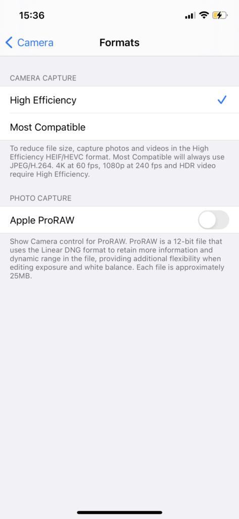 iphone 12 pro apple proraw