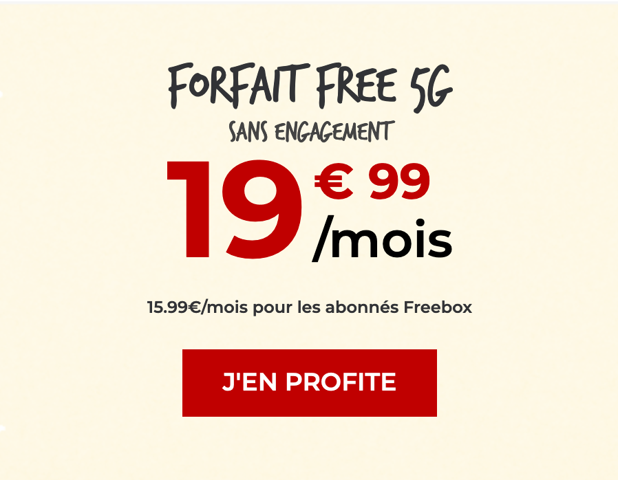 forfait 5G free