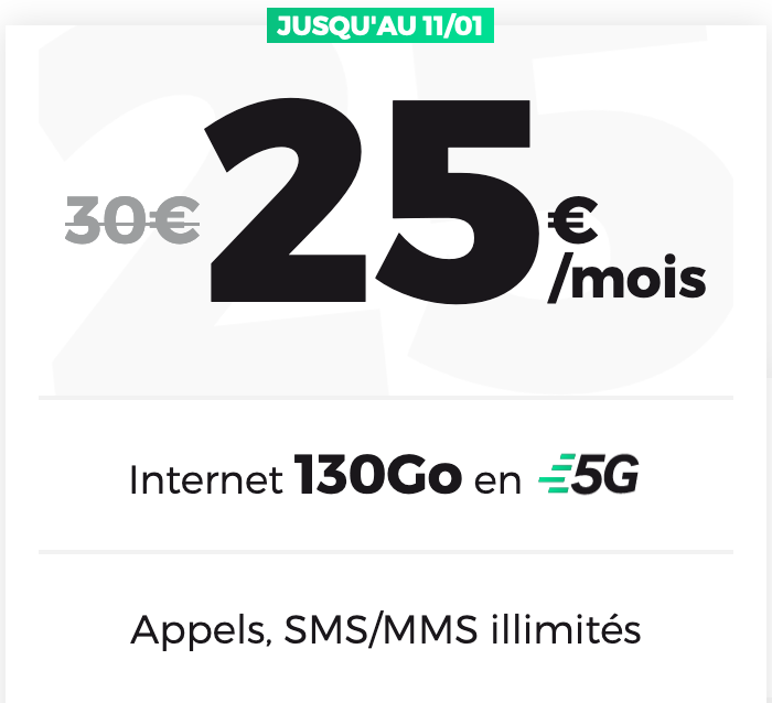 forfait 5G red by sfr