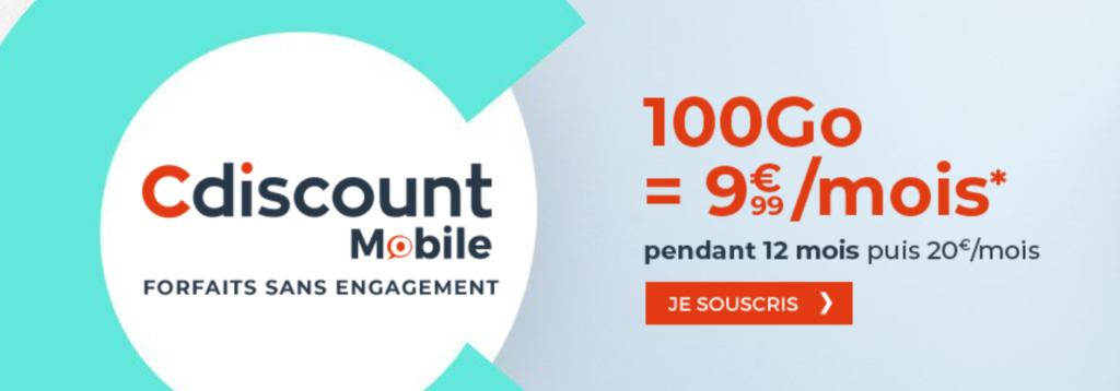 cdiscount mobile 100 Go