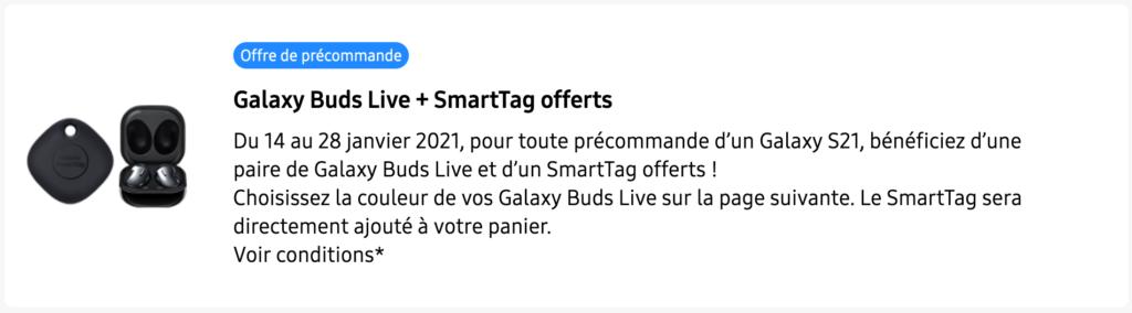Galaxy Buds Pro et SmartTag
