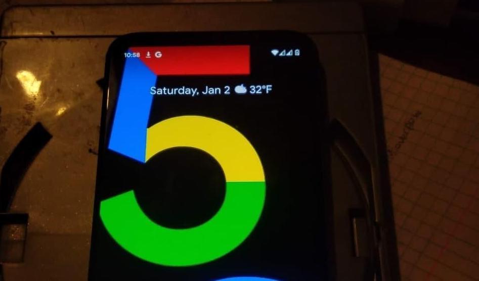 google pixel 5a photos fuite