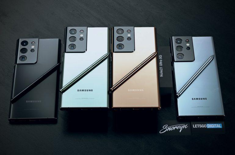 Galaxy Note 21 Ultra rendu 3D