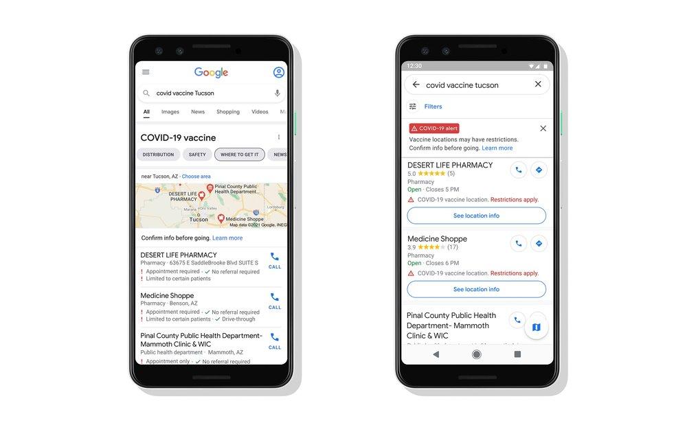google covid 19 smartphone