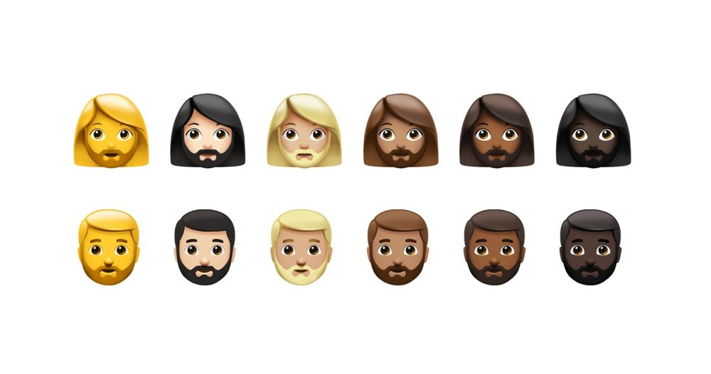 femme et homme avec barbe