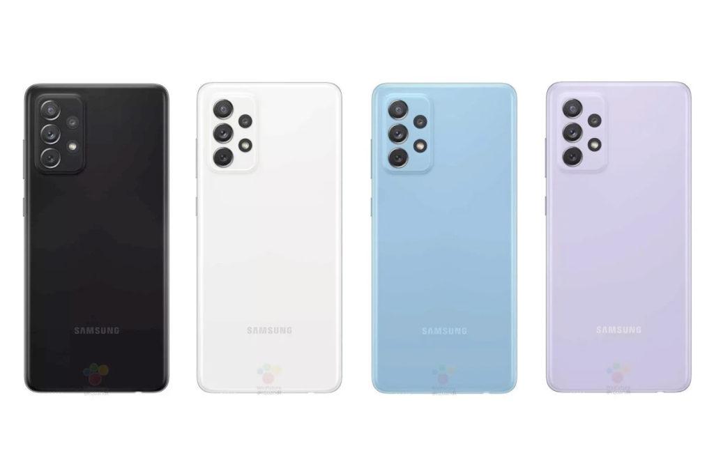 Galaxy A72 coloris
