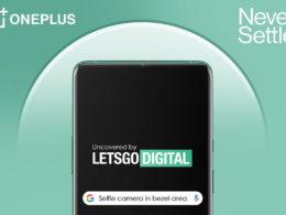 oneplus camera selfie bordure supérieure