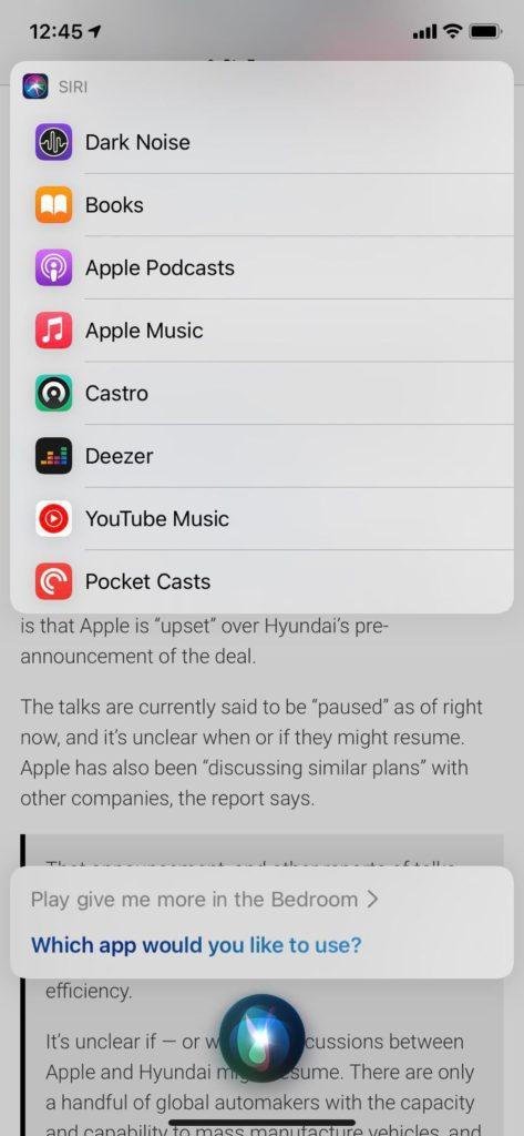 applications musique siri iOS 14.5