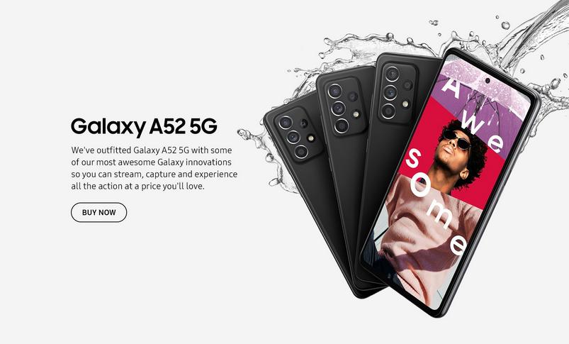 affiche galaxy A52 5G