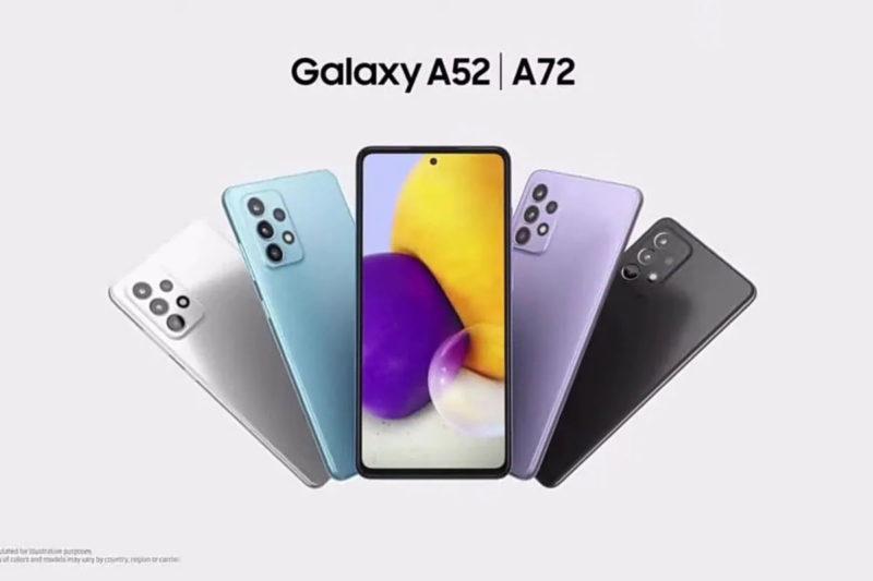 galaxy A52 A72 officiels