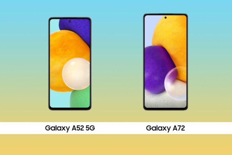 galaxy A52 A72 design officiel