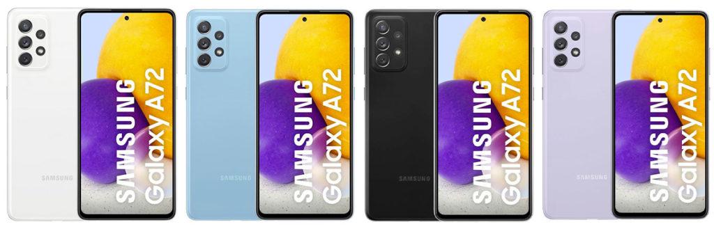 coloris du Galaxy A72