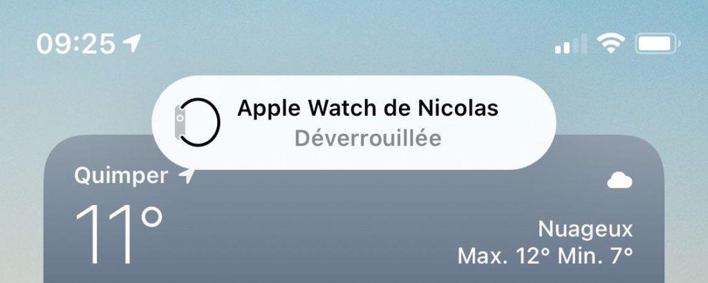 apple watch notification déverrouillage iPhone