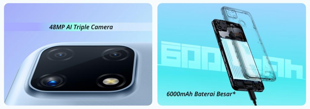 Realme C25 photo et batterie