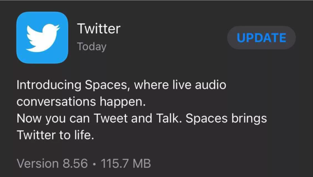 twitter spaces ios