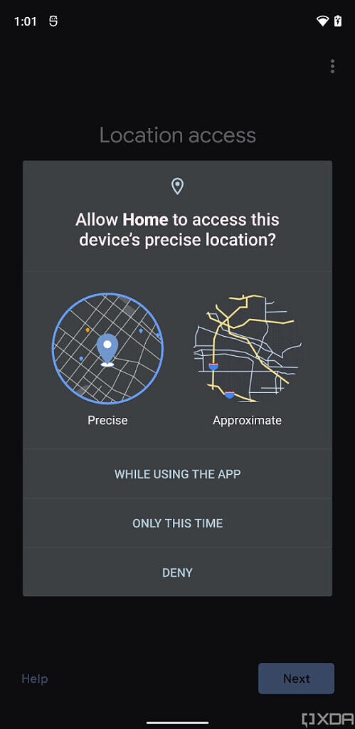 android 12 geolocalisation