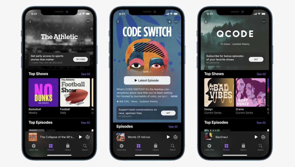 apple podcasts+ apple event