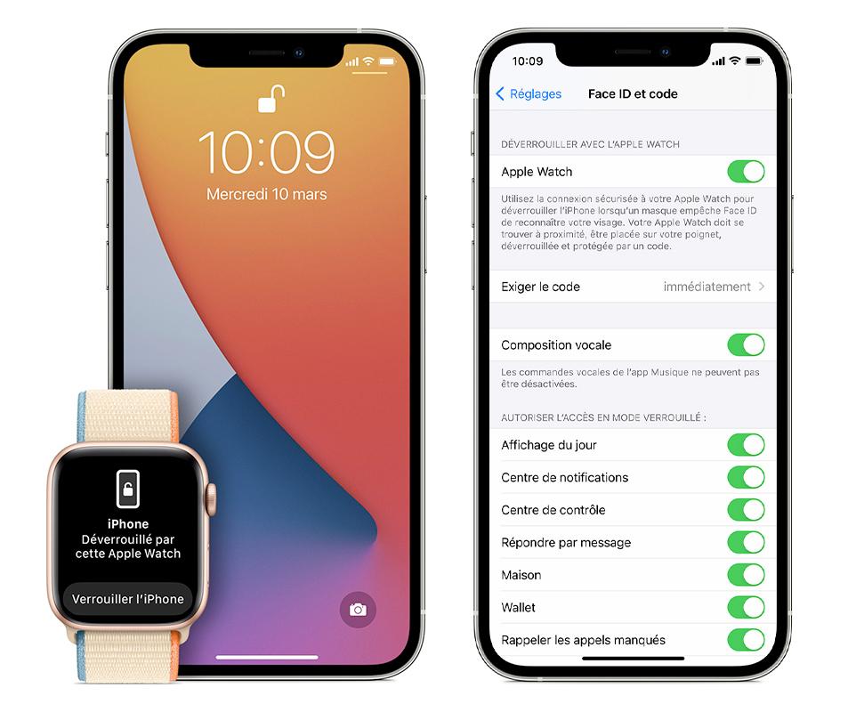 déverrouiller iphone avec apple watch