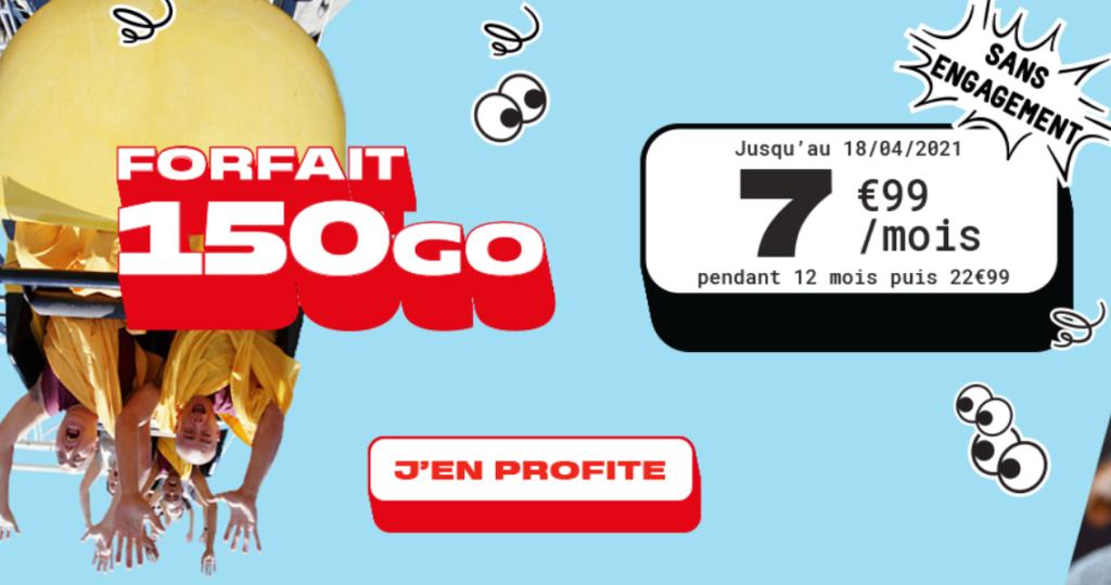 forfait 150 Go nrj mobile