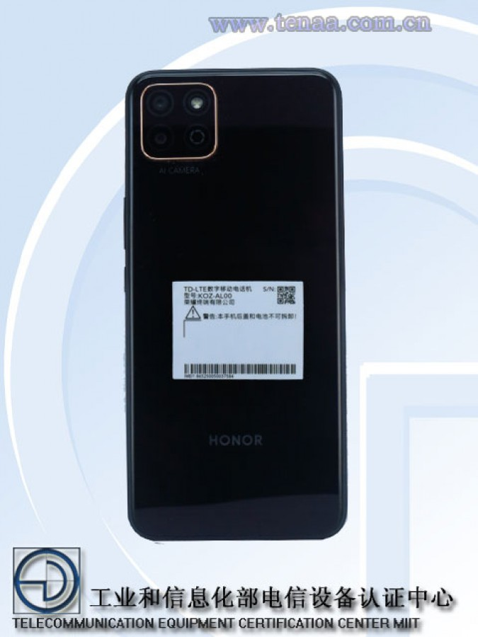 honor smartphone tenaa