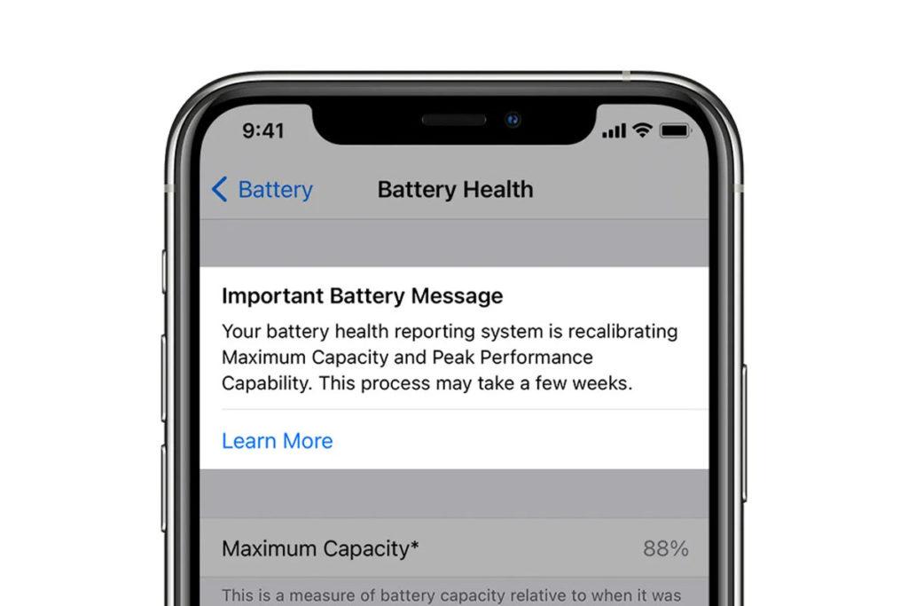 ios 14.5 outil batterie