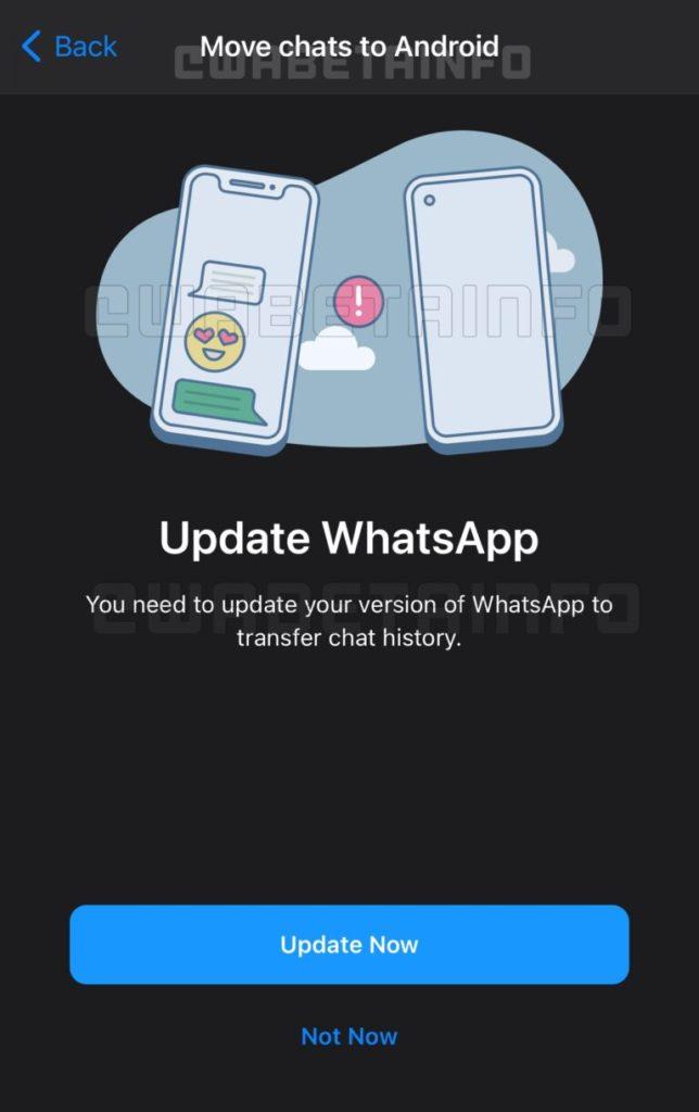 whatsapp update historique conversation