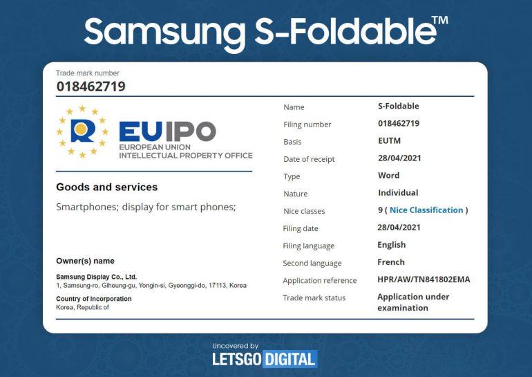 Samsung dépôt marque UE