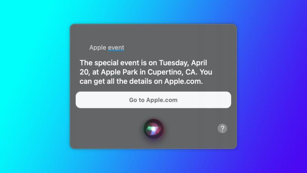 apple keynote 20 avril siri