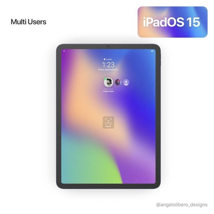 ipados 15 multi-utilisateurs concept