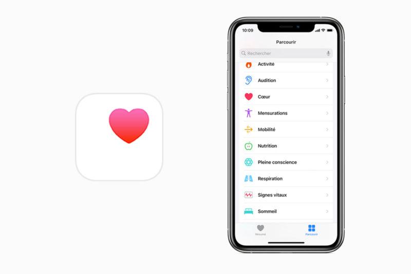 application santé apple
