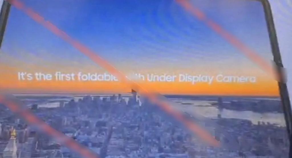 galaxy z fold 3 caméra sous l'écran