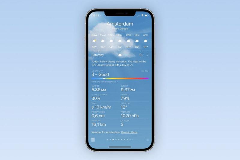 ios 14.7 qualité de l'air app météo