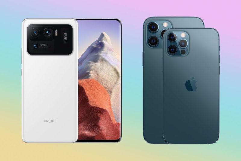 mi 11 ultra iphone 12 pro max xiaomi apple