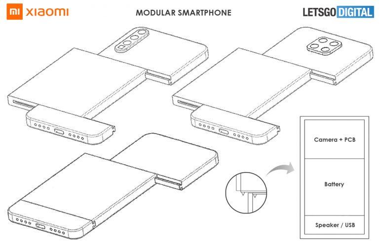 brevet xiaomi smartphone modulaire